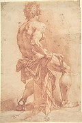 Male Figure Seated on a Column