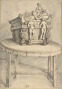 Sarcophagus on a table