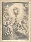 Monstrance Surrounded by Cherubs