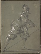 An Infantryman Drawing his Sword