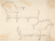 Two Design Drawings for Day-Beds