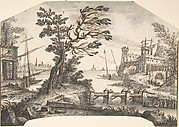 Landscape Drawing for a Wall-Decoration
