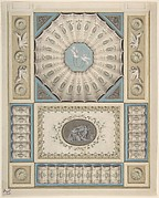 Design for Ceiling Decoration in Neoclassical Style