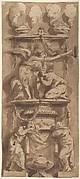 Design for a Funerary Monument or Epitaph with Mourning Figures