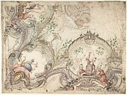 Design for a Ceiling Decoration with Chinoiseries