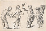 Four Putti representing the Four Elements