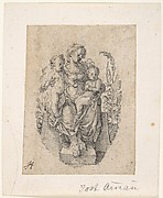 A Seated Personification of Charity with two Children