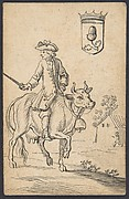 Acorn King: A Man Astride a Cow