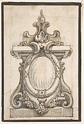 Design for a Cartouche with an Oval Compartment