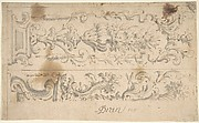 Two Designs for Floral Panels of Ornament