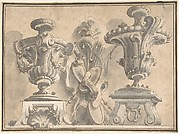 Ornamental Design with Two Urns and a Trophy