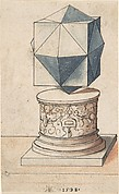 Perspectival Drawing of a Column Base with Geometrical Form