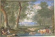 Landscape with Cows in a Brook