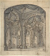Stage Set of a Room Interior with Receding Perspective