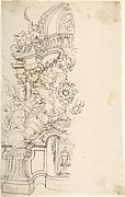 Design for One Half of an Altar, with an Angel (of the Annunciation) at the left
