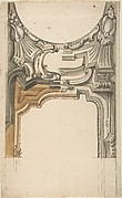 Two Alternate Designs for a Decoration over an Arched Opening with an Ornamental Cove