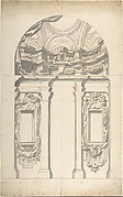 Two alternate Design for a wall elevation