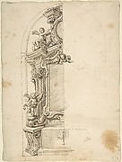 Half design for the decoration of an Altar with Putti.