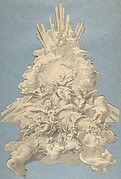 God the Father Surrounded by Angels and the Four Animals, Symbols of the Evangelists