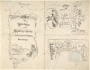 Studies for the title page and vignettes for Blumen vom Pöhlberg-Hang by Anna Wechsler