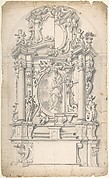Halved Variant Designs for un Altar with the Virgin of the Immaculate Conception in the Central Cartouche