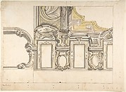 Design for an Attic Window and an Interior, with the Frame of the Ceiling Shown
