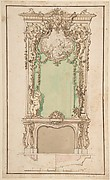 Design for Mantelpiece and Elaborate Overmantel