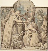 Kriemhild, in Mourning over Siegfried, Handing Out Treasures from the Nibelungen Hoard