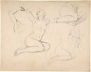 Studies of a Sitting Woman; verso: Studies of Men