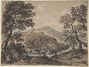 Hilly Landscape with Travellers