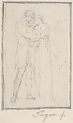 Man Embracing Woman with Child in Her Arms