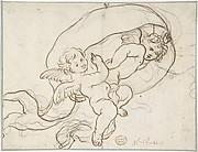 Two Flying Putti