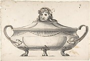 Tureen, Finial with Mask