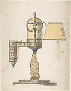 Argand Lamp with Shade