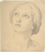 Head of a Woman Looking Up
