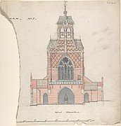 West Elevation of an Unidentified Church
