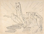 Morning: Pope's Odyssey, Book 12 (recto); Study for the final drawing (verso)