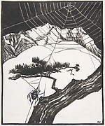 "Illustration for ""The Fall of the Spider Man"""