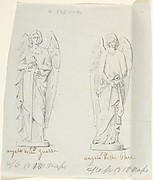 "Sketches of Two Statues: ""Angel of War"" and ""Angel of Peace"""