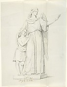 """Sketch of One Statue: """"Guardian Angel"""""""