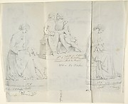 "Sketches of Seven Statues: ""Faith,"" ""Paolo and Francesca di RImini,"" ""Charity,"" ""Roman Matron,"" ""Venus Feleste,"" ""Danyatrice,"" and ""Sleeping Amor"""