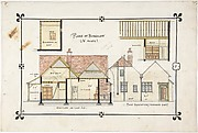 Bungalow drawing -- Eastern elevation and interior