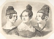 Portrait of Frau von Oppen and Her Two Daughters