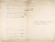 Design for a Corinthian Entablature for the Duke of Richmond, either for Richmond House, Whitehall, London, or Goodwood, Sussex