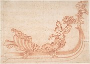 Design for a Sleigh with a Mermaid Holding a Vessel with Fruit