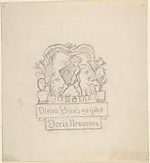 Design for bookplate for Doris Neumann