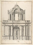 Design for the façade of a building