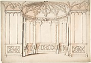 Design for a Gothic Bay Window
