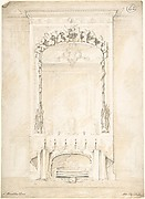 Design for a Fireplace and Mirror