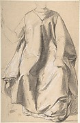 Figure in a Long Robe, Seated